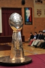 Super Bowl Trophy and David Diehl Visit the Prep