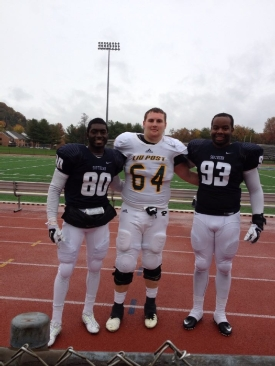 Football Alumni Carroll '12, Jones '13, and Tedder '12 Face Off