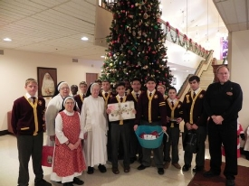 Lower School boys bring Christmas cheer to Rosary Hill