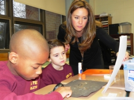 Fourth-graders get wise on owl diets through pellet dissection