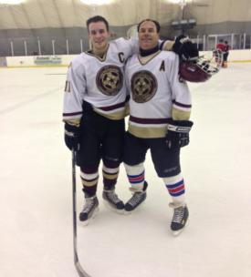 Alumni Hockey Game proves special for one father-son combo