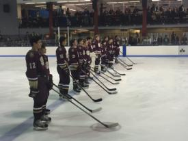 Varsity Hockey defeats Fordham Prep in their first meeting of the season.
