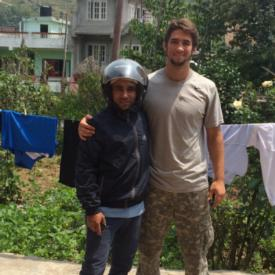 Anderson US'12 returning a kindness to Nepali family in wake of recent earthquakes