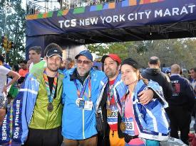 Former harrier times last NYC Marathon alongside family and friends