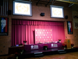 The Iona Prep Athletic Department hosted the Winter Sports Award Dinner in the Tully Gymnasium