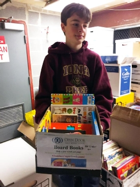 Freshman Zachary Lyons 'Opening Doors' with 2nd Book Drive