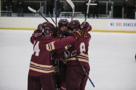 JV Hockey opens playoffs with sudden-death OT win over rival