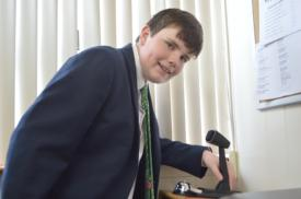 Lower School's Connor Breen '21 makes some moves as 'Principal-for-a-Day'