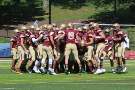 Varsity Football defeats Bishop Hendricken in the season opener