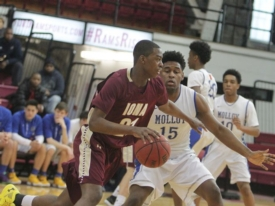 Senior basketball player Josh Alexander commits to American University