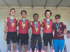Varsity Crew 4+ Boat Wins Gold at King's Head Regatta