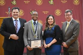 Senior Jordon Gyapong  Wins NCEA Medal of Honor for Selfless Service Out of 1.8 Million Catholic School Students Nationwide